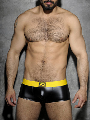 ADDICTED FETISH Rub Boxer Back Open Yellow