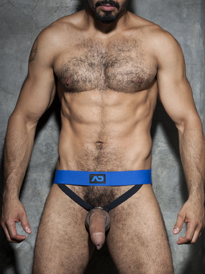 ADDICTED FETISH Cockring Double Jock Royal Blue