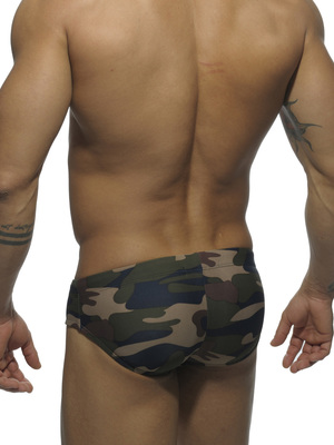 Addicted Camouflage Printed Sport Stripe Brief Camouflage