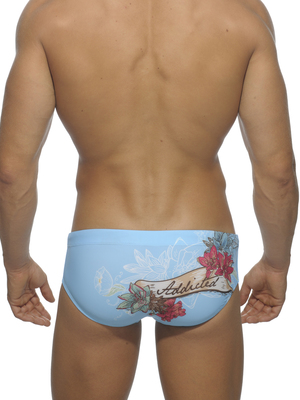 Addicted Skull Print AD Brief Turquoise