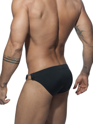 ADDICTED Transparent Lateral Detail Brief Black