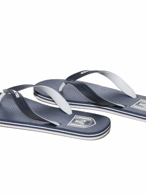 Addicted Two Tone Flip Flops Navy