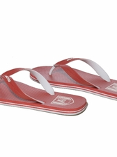 Addicted Two Tone Flip Flops Red