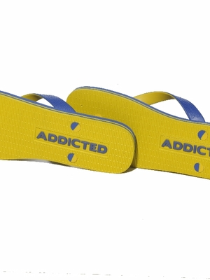 Addicted Two Tone Flip Flops Royal Blue