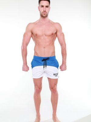 BCNU Superfly Athletic Short Blue/White