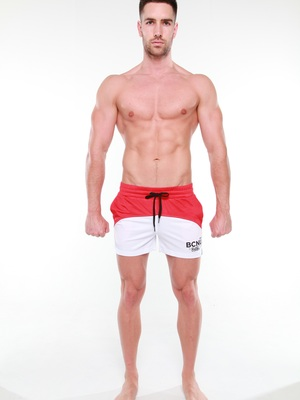 BCNU Superfly Athletic Short Red/White