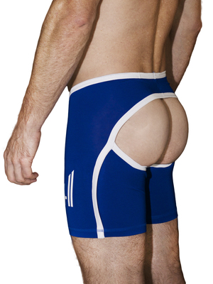 4 Hunks BIKER HUNK Bottomless Boxer Shorts Royal Blue