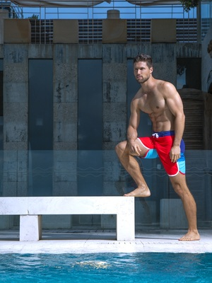 BCNU Fire Island Boardie Red