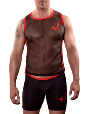 4 HUNKS Biker Top Backless Mesh