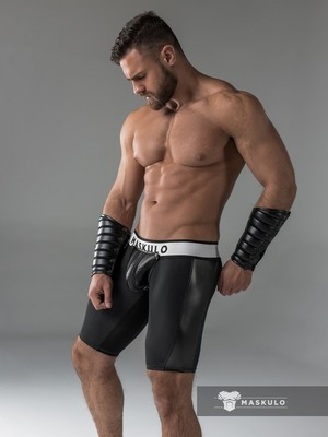 Maskulo Men's Fetish Shorts Codpiece Black (CRR)