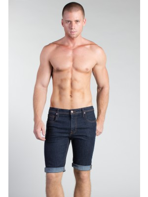 Timoteo The Downtown Hipster Denim Short Dark Resin Wash
