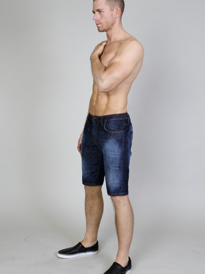 Timoteo Ryan Denim Short Indigo Fade