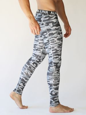 DRANGED ALPHA ARMY TRAINING TIGHTS Ice Camo