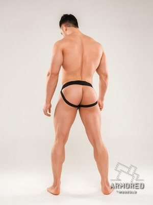 MASKULO Armored Next. Men's Fetish Jockstraps Black