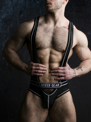 LOCKER GEAR Backless Body Black/White