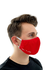 ALEXANDER COBB Face Mask Red Mes
