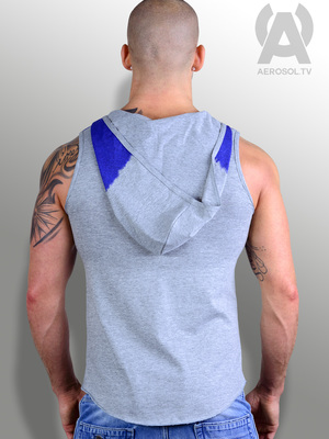 Aerosol Supaster Hooded Vest Grey/Blue