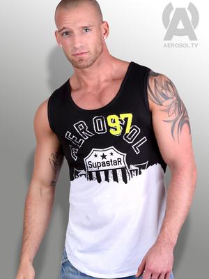 Aerosol Superstar Vest Faded Black