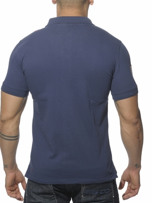 ES Collection Slim Fit Racing Polo Navy