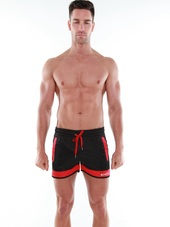BCNU Retro Gym Short Black/Red