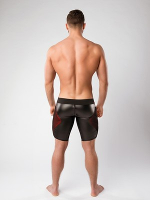 MASKULO Armored Color-Under Men's Fetish Shorts Zipped rear Red