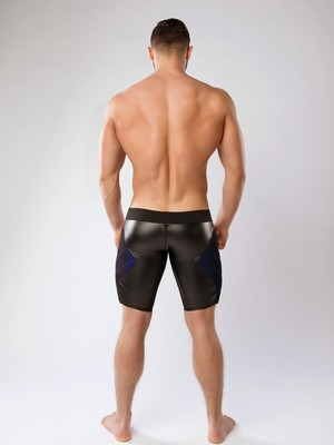 MASKULO Armored Color-Under Men's Fetish Shorts Zipped rear Royal Blue