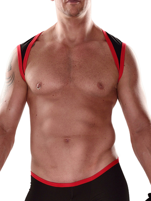 4 Hunks Sport Male Harness Stretch Black