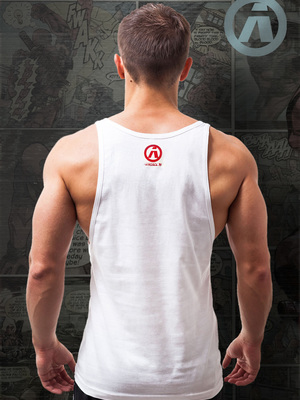 Aerosol Captain A White Tank-Top (SHTT01)