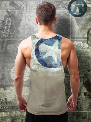 Aerosol Captain A Army Tank-Top