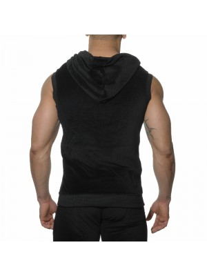 ES Velvet Sleeveless Hoody Black