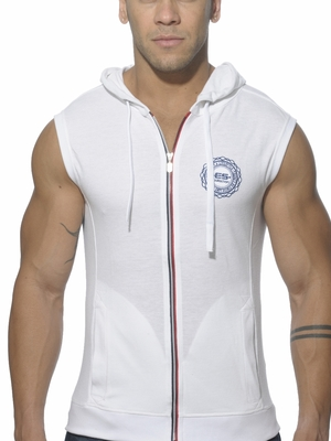 ES Collection Pique Hoody White