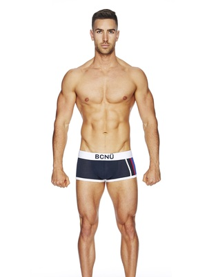 BCNU Varsity Punch Hole Boxer Brief Navy (US500)